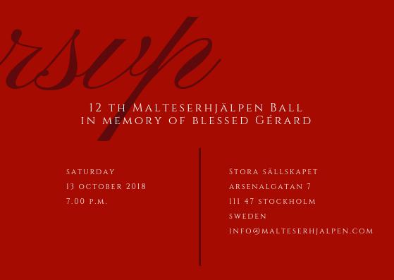 12e Malteserhjälpen bal och helg 2018